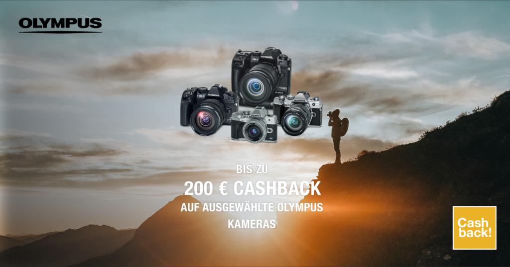 OLYMPUS SOMMER CASHBACK AKTION Bis zu 200 € Cashback beim Kauf ausgewählter OM-D Kameras